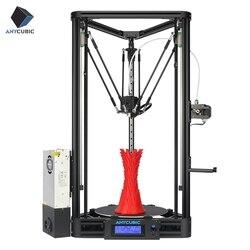 ANYCUBIC Kossel 3d принтер Impresora 3D авто-уровень платформа шкив линейная направляющая плюс большой размер печати рабочего стола Diy комплект