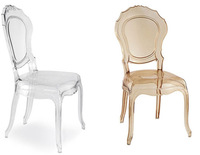 Wholesale Quality Plastic Princess Dining Chair Wedding Plastic Castle Chair