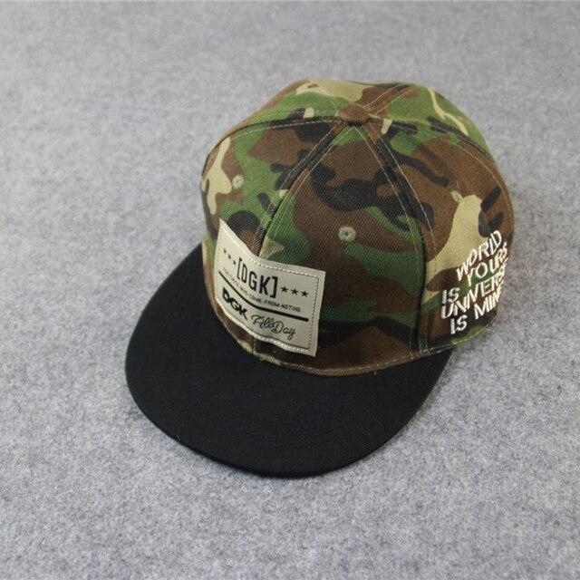 2015 Autumn Military camouflage cap Letter GDK Adjustable Hip hop Street AAPE  hat Baseball Lovers Dsq cap 76a1585b9c97