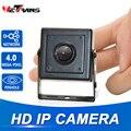 4.0MP мини ip-камера H.264 3 7 мм мегапиксельная линза с отверстиями 1080P безопасность POE IP CCTV домашнее наблюдение 4MP H.265 мини камера HD