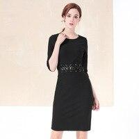 The New Fashion Super Quality Autumn Wave Waist Bind Hip Slim Dress Elegant Women S Knee