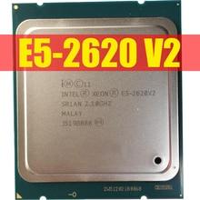 Processador intel xeon, processador e5 2620 v2 cpu 2.1 lga 2011 sr1an processador de servidor de 6 núcleos e5 2620 v2 E5 2620V2 cpu computador pc