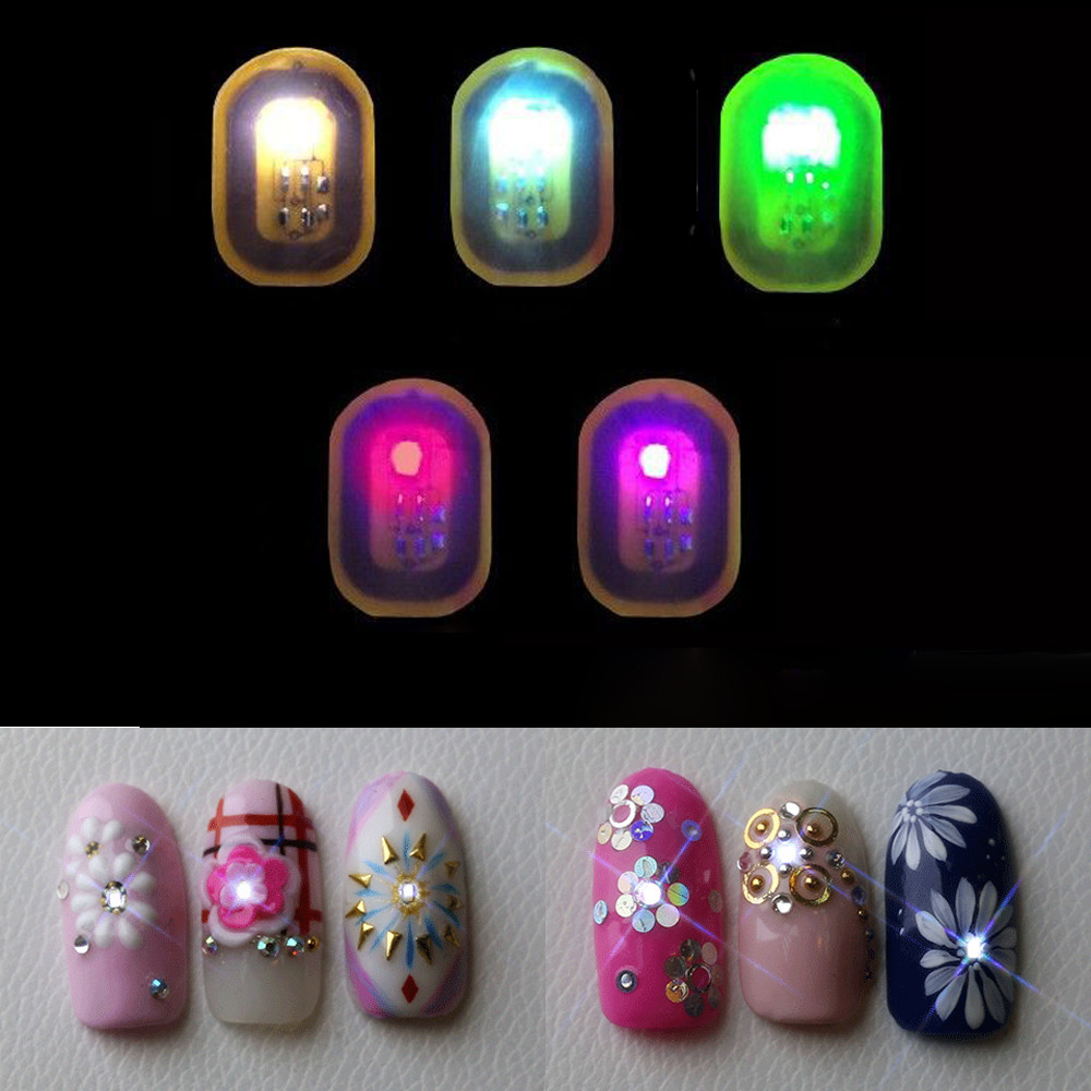 1PC 2018 New Women DIY Plastic NFC Nail Art Tips Stickers Phone LED ...
