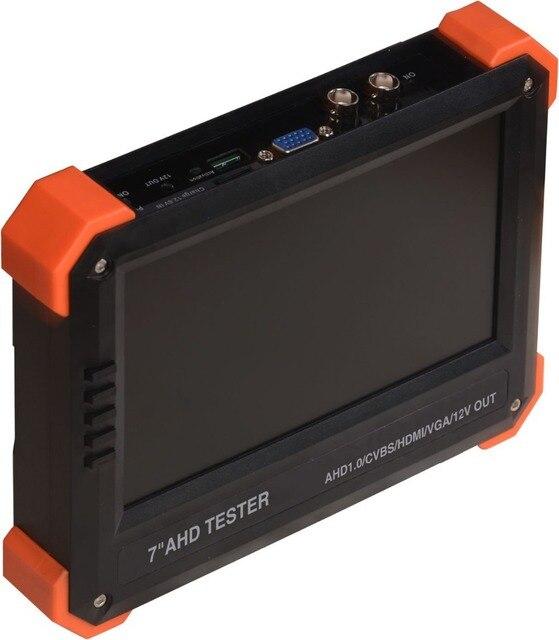 """New 1080P 7""""  AHD camera tester CCTV tester monitor AHD 1080P+Analog camera testing VGA HDMI input 12V2A output Free shipping"""