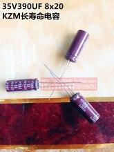 30 ШТ. 35V390UF 8X20 KZM долгую жизнь электролитический конденсатор NIPPON Япония 105 градусов бесплатная доставка