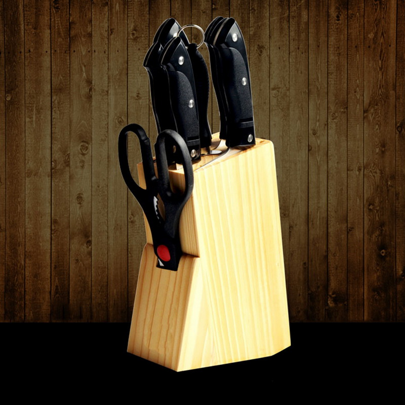 Organizer-Tools Knife-Rack Stand-Block Storage Bamboo Kitchen Multifunction-Holes Wood
