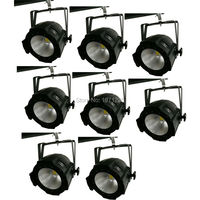 8pcs Aluminium Case 100W COB Led Par Light With Cool White And Warm White Strobe Effect