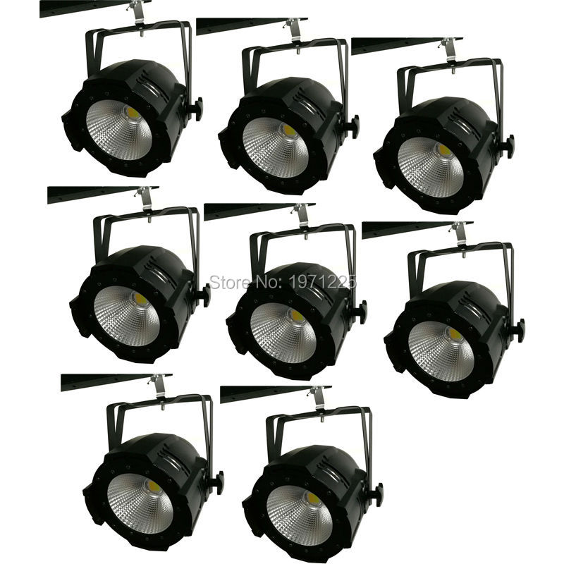 (8pcs) Aluminium Case 100W COB Led par light with cool white and warm white Strobe Effect Stage Lighting