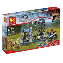 No Original box Hot LELE 79180 Jurassic Velociraptor Mondo Building Blocks Jurrassic ParcoGiocattoli Dinosauro jurassic mondo