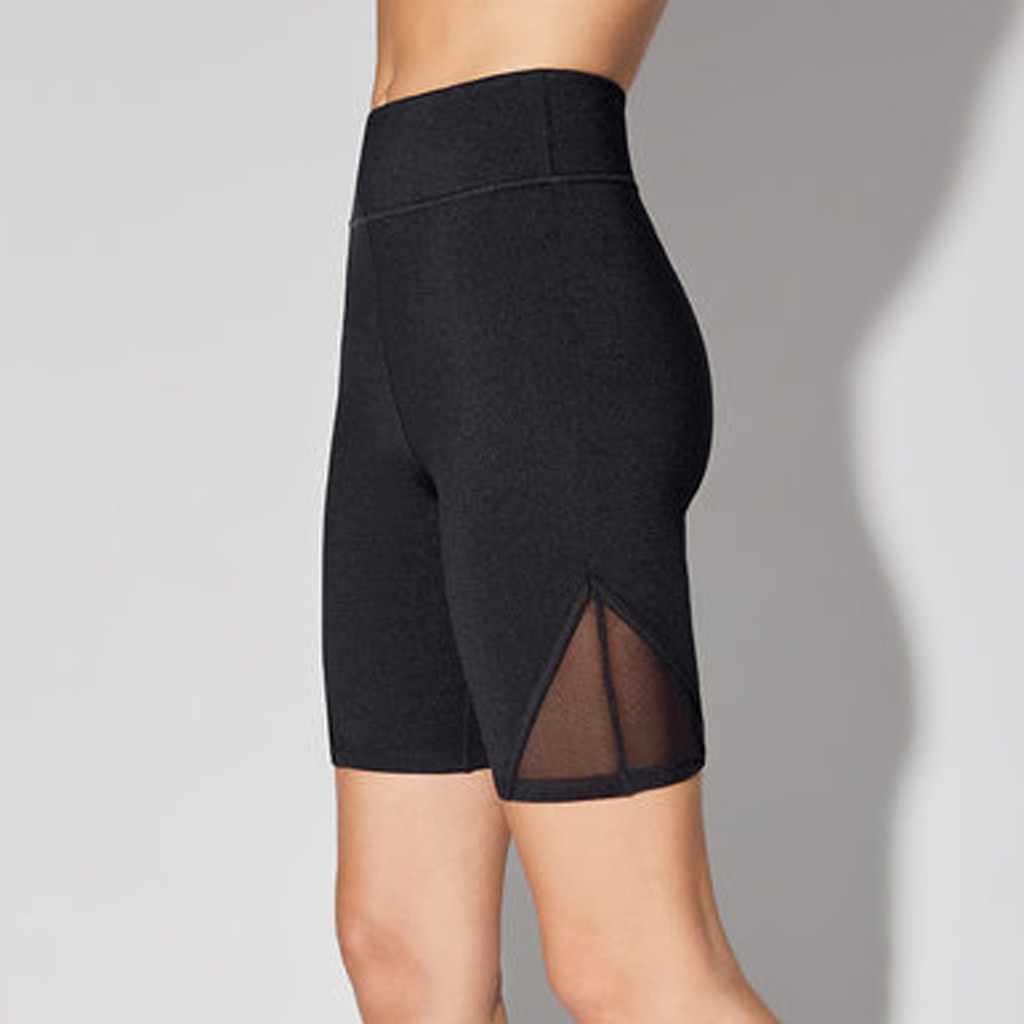 Bayanlar spor yüksek bel seksi kadın sıska koşu spor sıcak spor tayt pantolon düz göbek pantolon #20
