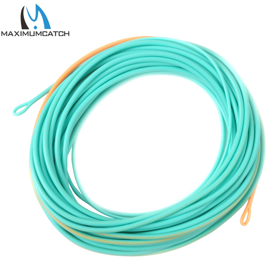 Maximumcatch 20FT-25FT 300GR-650GR Shooting Head Fly Line With 2 Welded Loops Double Color Floating Fly Line maximumcatch shooting head fly line 5s 6s 7s 8s 10f 9 5m floating sinking fly line with 2 welded loops