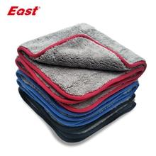 East lingettes de nettoyage Super absorbantes Double couche, pour le nettoyage de la maison, soins pour la voiture, Double face, serviettes en velours corail, lavage