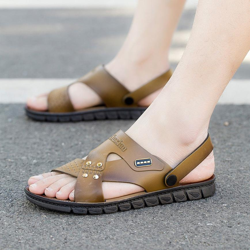 mokingtop Men Summer Casual Massage Flip Flop Comfortable Pool Beach Slippers Sandal Summer Shoes @@