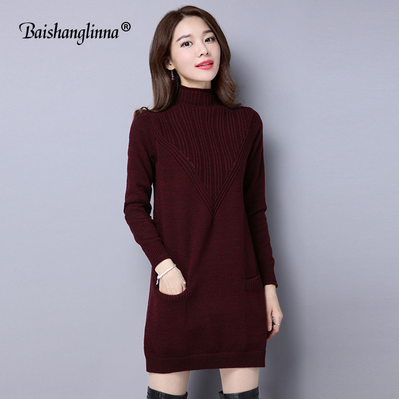 Wolle kleid pullover