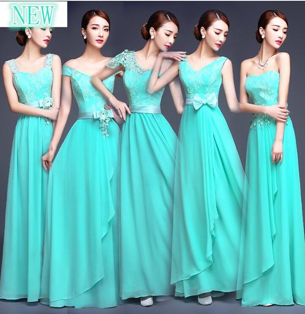 b583a20a1 Turquesa tallas grandes una línea de dama de honor modestos vestidos para  fiesta formal largo vestidos