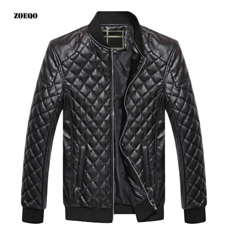 100% QualitäT Zoeqo Leder Jacke Männer Hohe Qualität Weichen Pu Männlichen Faux Leder Jacke Männer Casual Jaqueta De Couro Masculina Klassische Herren Mantel