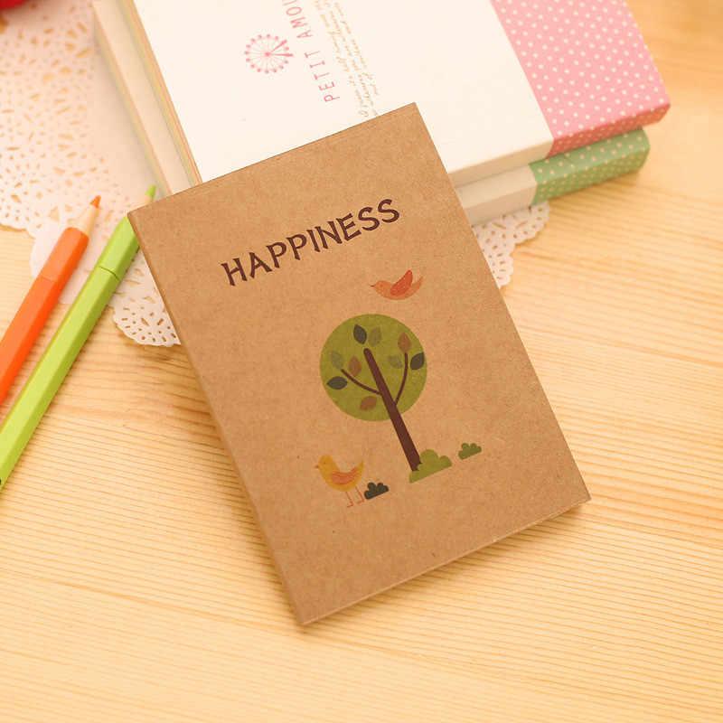 40 hojas de páginas en Blanco Cuaderno portátil pintado a mano boceto arte en blanco boceto libro planificador diario para niños papelería
