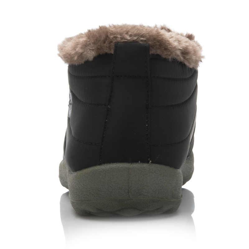 Bán Mùa Đông Thường Ủng Nam Chống Thấm Nước Mắt Cá Chân Giày Phẳng Chống Trơn Trượt Thời Trang Người Mùa Đông Ấm Giày Lớn kích thước 35-48
