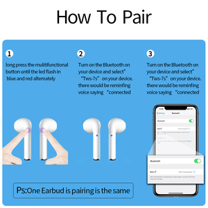Image 3 - I7s tws mini fones de ouvido sem fio esporte bluetooth fone com caixa carregamento microfone estéreo android para iphone xiaomi