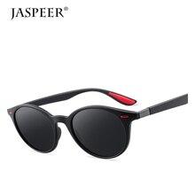 JASPEER Polarized Sunglasses For Men Round Lens  Sun glasses Men's Driver Sunglasses Plastic Frame UV400 Eyeglasses цены