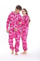 Nordic Way Overall Unisex Camouflage Romper Adult One Piece Jumpsuit Hoodie Fleece Playsuit