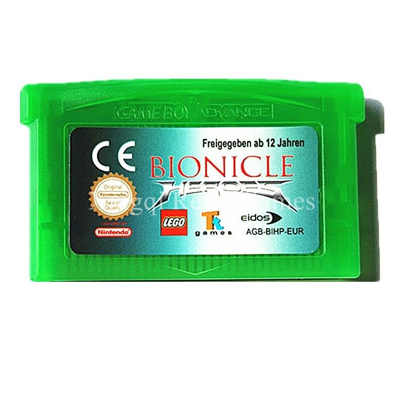 Nintendo GBA Game Bionicle Heroes Video Game Cartridge Console Card ENG/FRA/DEU/ESP/ITA Language