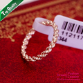 Free shipping,ITALINA Hotselling Round Female hemp flowers Rose gold plated ring fashion jewelry women rings,Full Size.R007