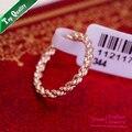 Frete grátis, italina hotselling rodada flores de cânhamo fêmea rose banhado a ouro anel de moda jóias mulheres anéis, tamanho completo. r007