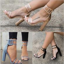 GZGCC Women Platform Sandals Gladiator High Heels Clear Buckle Strap Spring Summer Sexy Woman Casual Fashion Shoes
