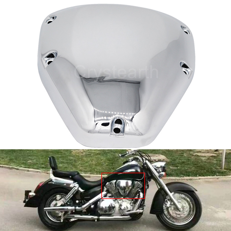 Chrome Motorcycle Air Filter Cover Cap Air Cleaner Intake Case Cover For Honda VTX1300 VTX1800 VTX 1300 1800 2003-2008 05 06 07 ironwalls chrome air cleaner filter covers rainproof dustproof battery side fairing cover for honda magna vf750 vf750c 1994 2004