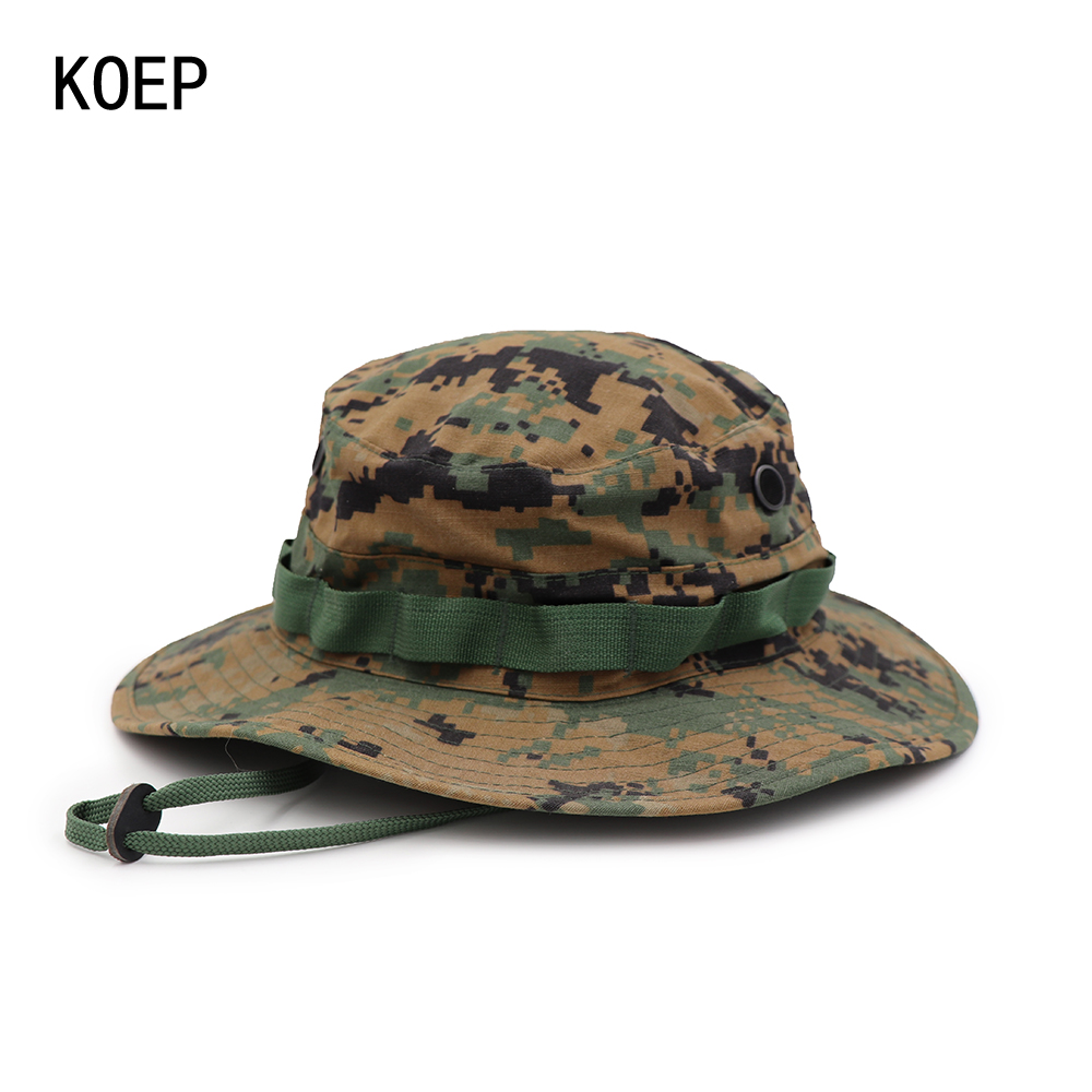 430b5287fb1 KOEP Summer Bucket Hats Airsoft Sniper Camouflage Hats Tactical Paintball Boonie  Hats Factory Direct Sale Size 58cm