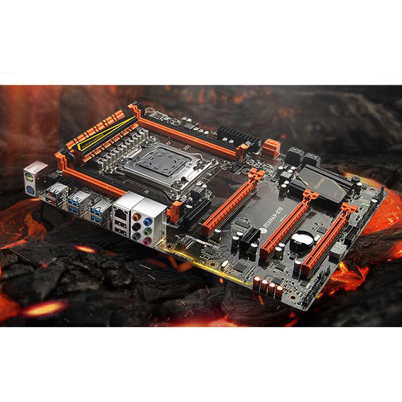 Bán chạy nhất HUANAN cao cấp X79 LGA2011 Bo mạch chủ CPU RAM Sản Phẩm Xeon E5 2670 C2 mát hơn với 64G (4 * 16G) DDR3 1333MHz RECC