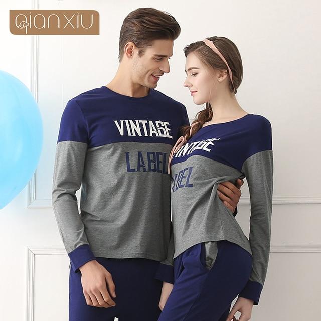 Qianxiu Nightwear men Fashion Patchwork Onesies for adults Plus size Pajama Sets