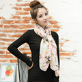2017 Primavera Verão Imitado Silk Scarf Mulheres Long Bow Padrão Marca Xales e Hijab Chiffon Das Senhoras Das Mulheres do Sexo Feminino Lenço Protetor Solar
