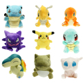 15 style Mini  Plush Doll Toy Pikachu Charmander Cyndaquil Dragonite Snorlax Squirtle Mew Peluche Dragonite Celebi