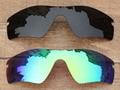 Negro Gris y Verde Esmeralda 2 Unidades Polarizado Lentes De Repuesto Para Trayectoria Del Radar de las gafas de Sol de Marco 100% UVA y Uvb