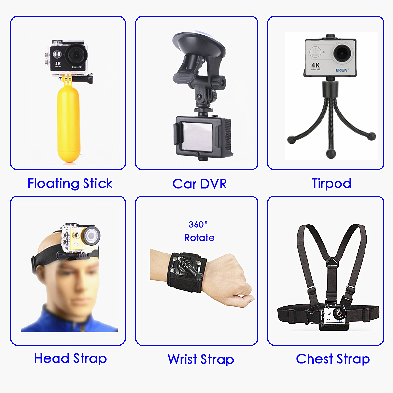 "Original EKEN H9 / H9R Action Camera Ultra HD 4K / 30fps WiFi 2.0"" 170D Underwater Waterproof Cam Helmet Vedio go Sport pro Came-3"