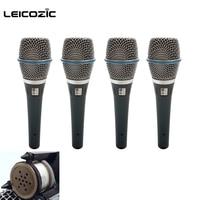 Leicozic 4 шт. le87a 87a конденсаторный микрофон суперкардиоида Mikrofon Системы караоке микрофон вокальный проводной microfoon microfono Mic