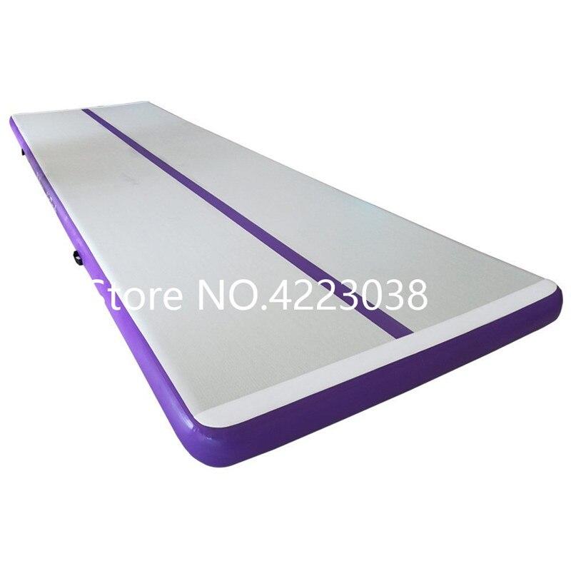 Air piste tumbling mat gonflable gymnastique airtrack avec Pompe pour Pratiquer La Gymnastique, Cheerleading, Tumbling, Parkour
