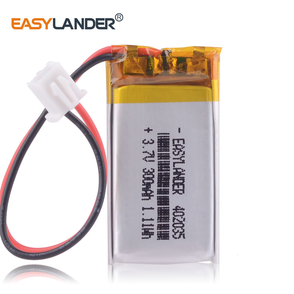 XHR-2P 2.54 <font><b>402035</b></font> core 400mAh 3.7V polymer <font><b>battery</b></font> registrar mio dvr image