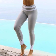 S-XL Adventure Time Leggings Women Stripe Patchwork Fitness Leggins Sexy Slim Skinny Workout Sporting Gymming Clothes For Female