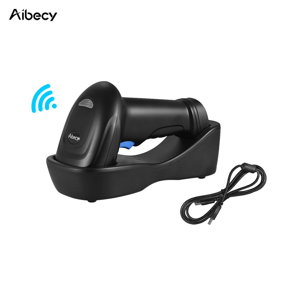 Aibecy Barcode Scanner 433MHz Wireless 1D 2D Auto Image Barcode ...