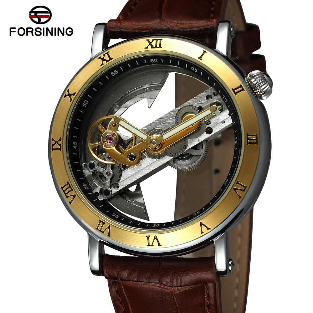 Men's Watch Automatic Wristwatch Mechanical watch Skeleton Style double-sided Flywheel Stainless Steel Hollow Out Watches k colouring women ladies automatic self wind watch hollow skeleton mechanical wristwatch for gift box