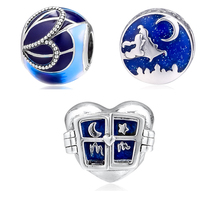 Fit Pandora Charms Bracelets DIY Blue Enamel Beads 100% 925 Sterling Silver Charm for Jewelry Making free shipping PF962 fits pandora charms bracelets christmas gloves beads 100% 925 sterling silver jewelry free shipping diy making