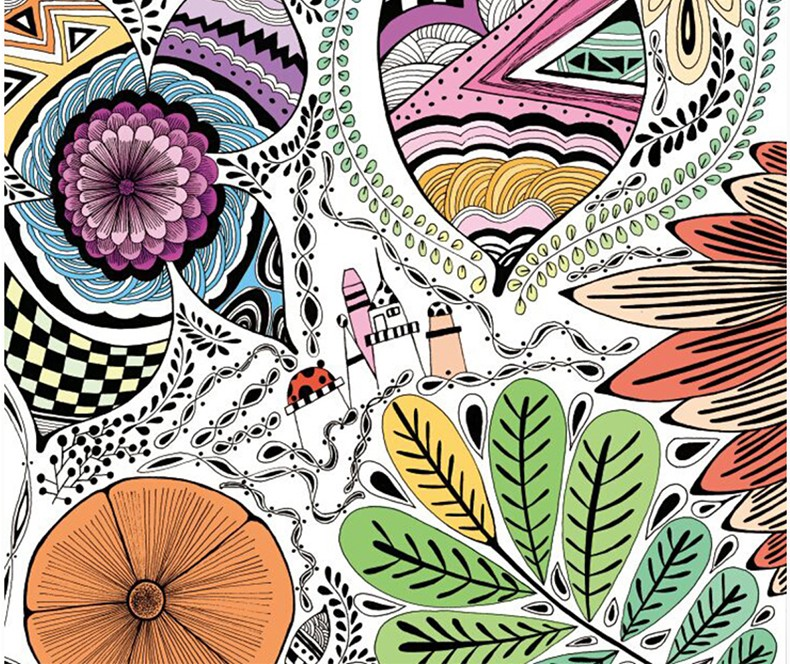 magic garden coloring book for adult children relieve stress graffiti painting drawing art coloring books in books from office school supplies on - Magical Garden Coloring Book