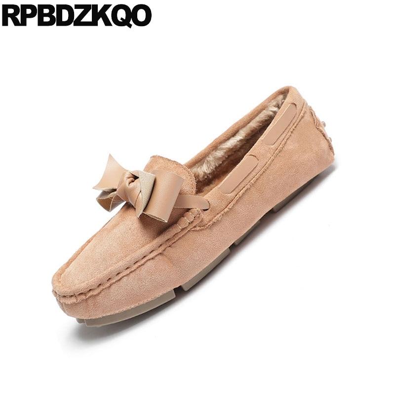 a92e44615 Chaussures 9 Mocassins Rond Confortable noir Apricot Bout Hiver 2018 ...