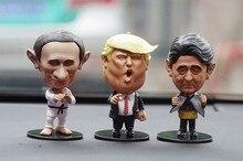 Divertente Leader di Bambola Decorazione Piccolo Trump Putin Bambola Auto Ornamenti Interni Cruscotto Decorazione accessori auto Regalo Di Compleanno