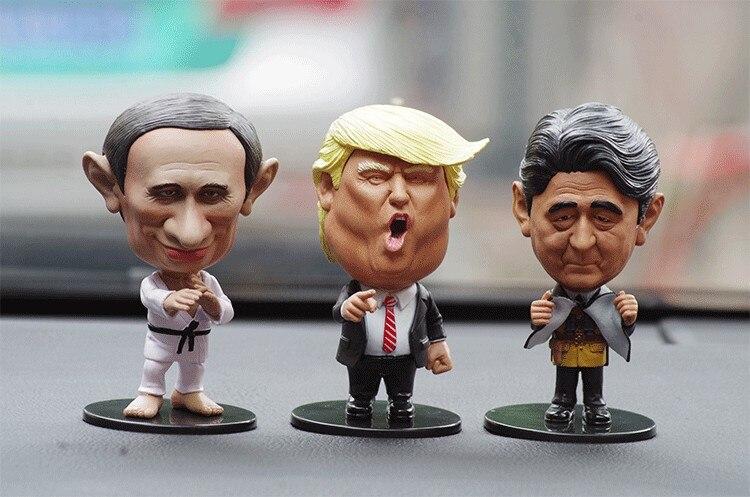 Funny Leader Doll Decoration Small Trump Putin Doll Car Ornaments Interior Dashboard Decoration car accessories Birthday Gift
