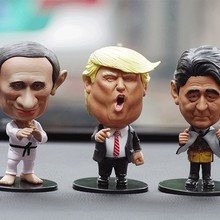 Funny Leader Doll Decoration Small Trump Putin Doll Car Orna