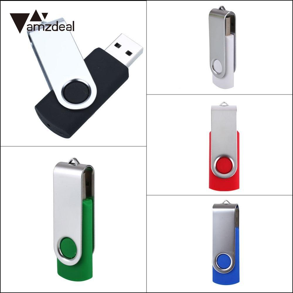 amzdeal Universal Computer 16GB USB Flash Drive 16GB Storage Memory Stick Metal High Quality Black White Blue Portable